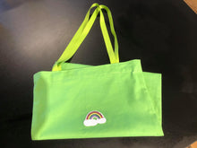Load image into Gallery viewer, Tiger Green Rainbow Shopper Bag