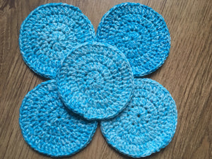 Reusable crochet makeup wipes - set of 5 - colour options