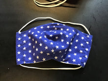 Load image into Gallery viewer, 6 Pack - Shaped Reusable Face Mask: Blue/white star & Red/white star