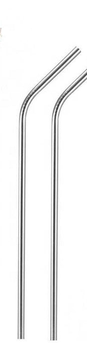 Reusable metal drinking straw - single bent straw, available in various colours