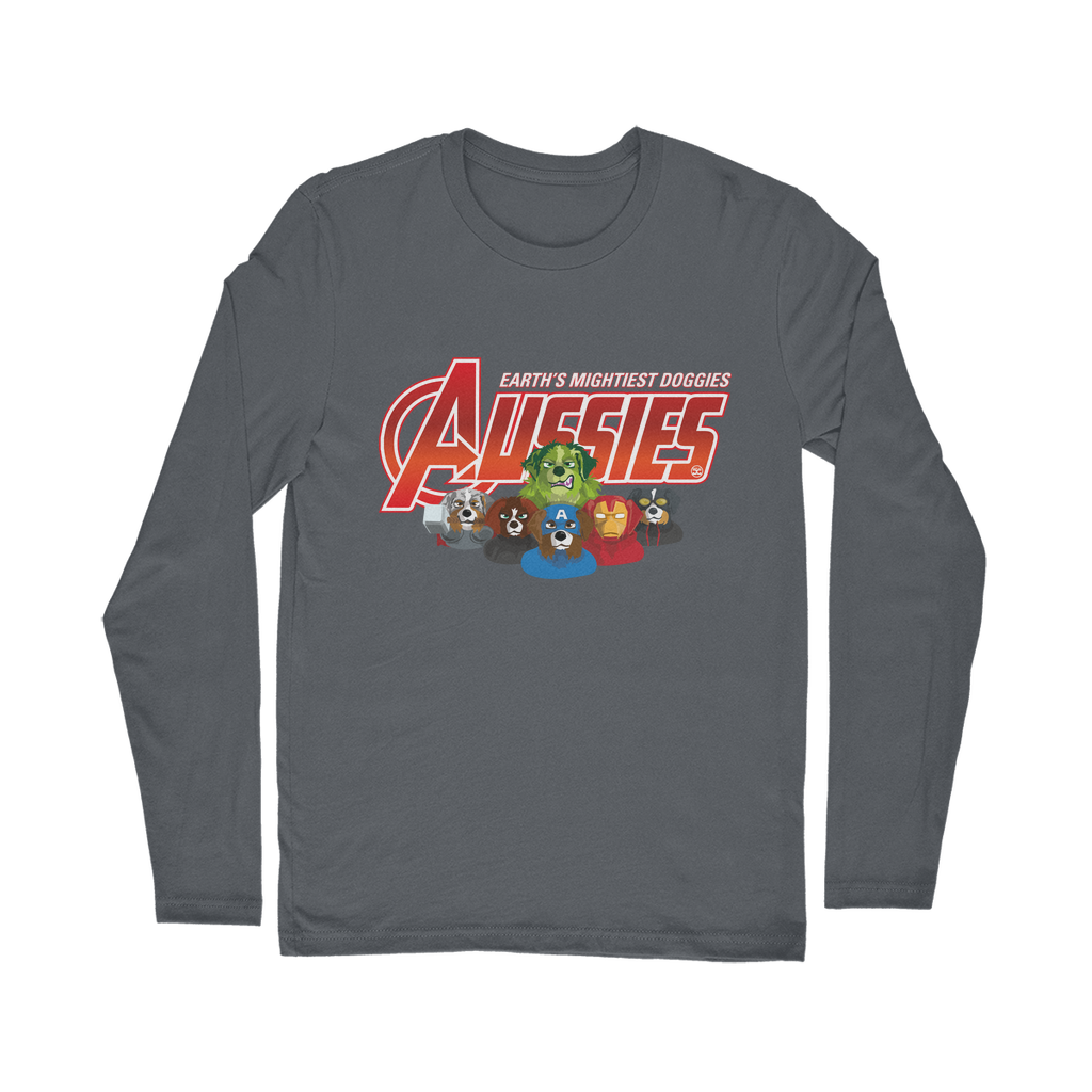 Aussies - Earth Mightiest Doggies | Long Sleeve T-Shirt