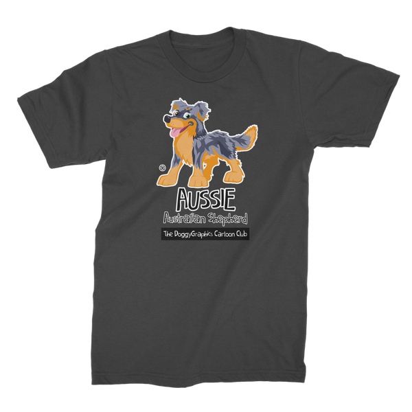 Australian Shepherd – Cartoon Club | Men's Premium T-Shirt