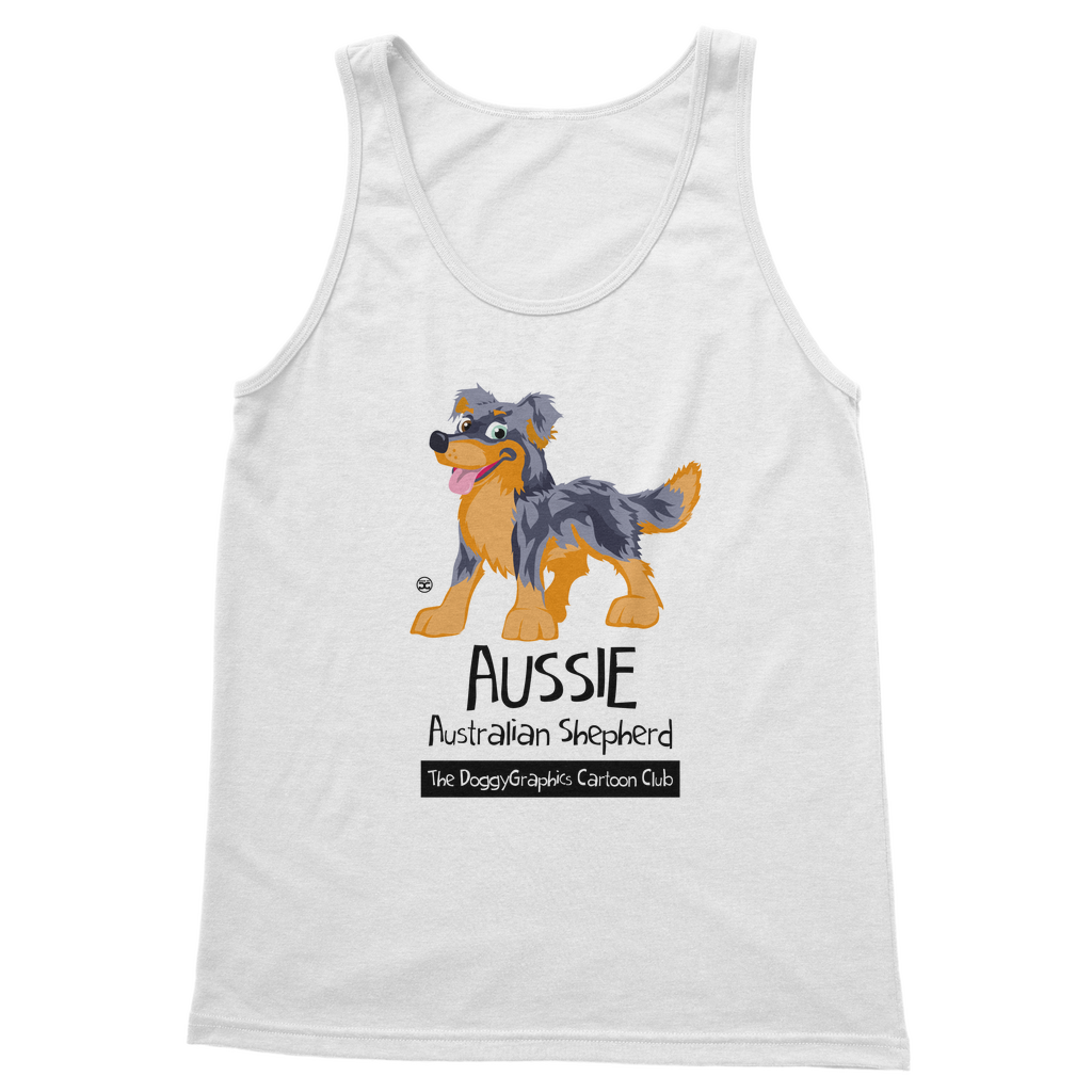 Australian Shepherd – Cartoon Club | Unisex Tank Top