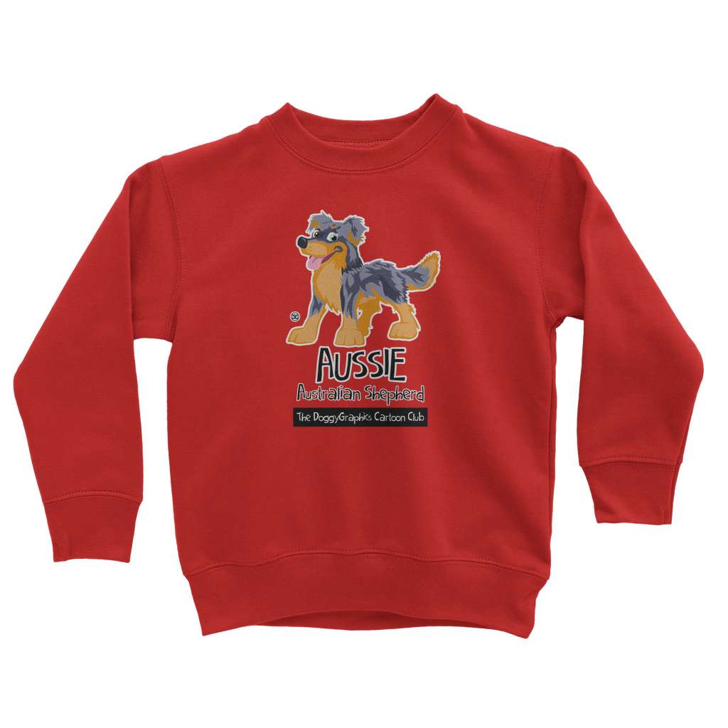 Australian Shepherd – Cartoon Club | Kids Sweatshirt