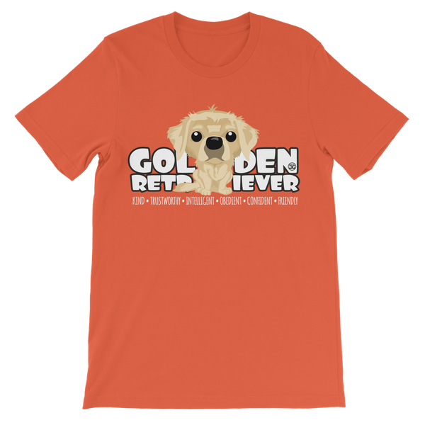 Golden Retriever – DgBigHead | Kids T-Shirt
