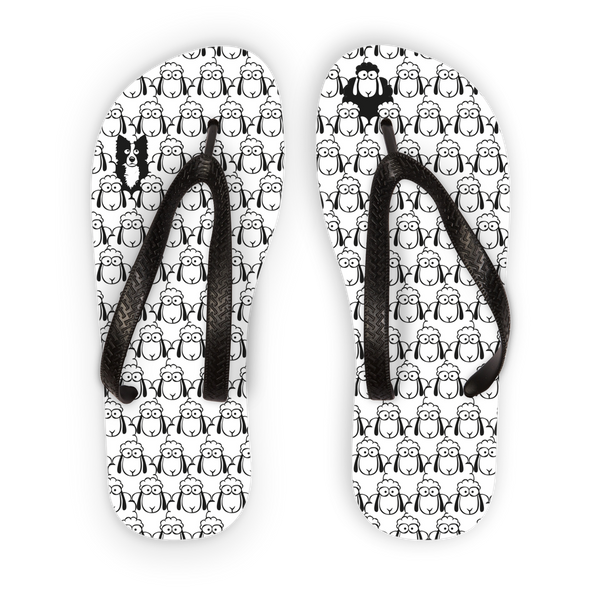 Black Sheep Adult Flip Flops