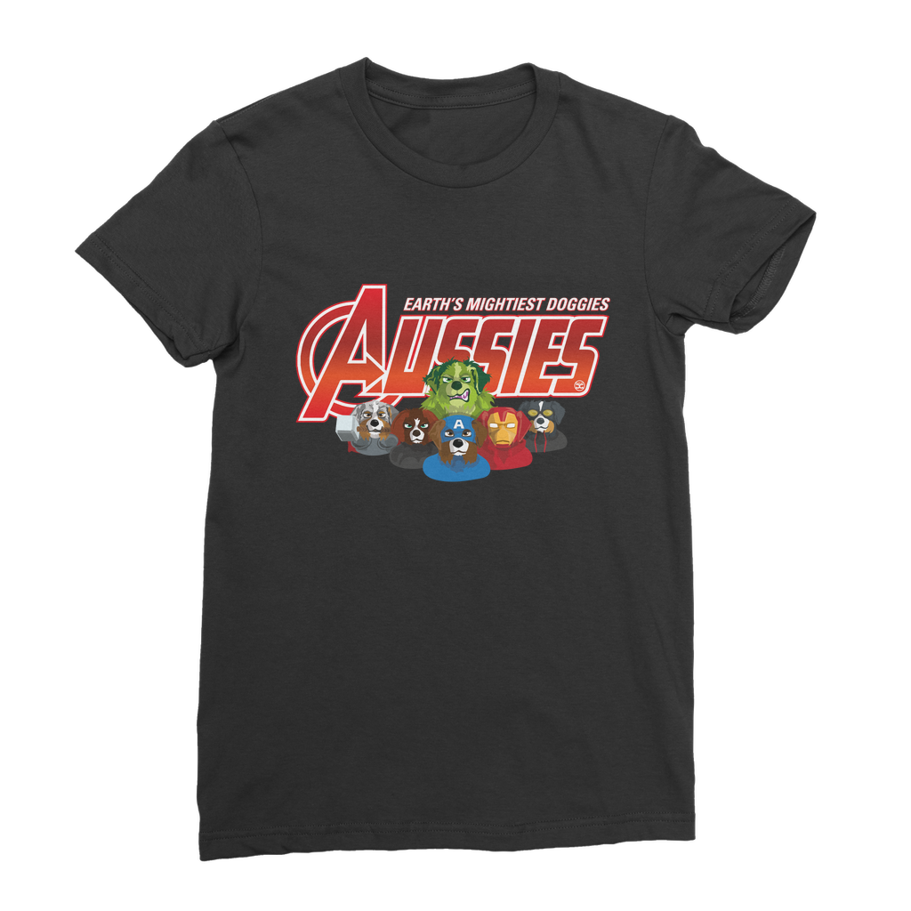 Aussies - Earth Mightiest Doggies | Premium Women's T-Shirt