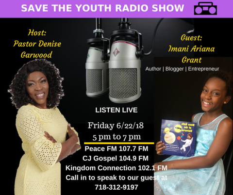 Radio Interview, Imani with Save the Youth