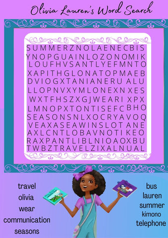 Activity: Olivia Lauren Find a Word Puzzle