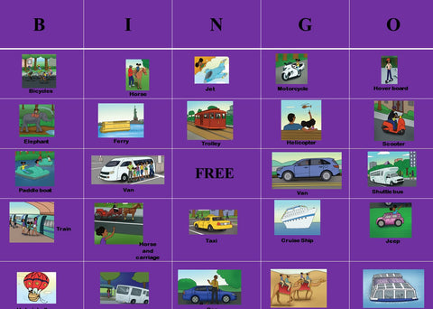 Activity: Olivia Lauren's Olivia Travels Bingo Cards