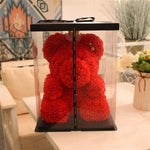 Red Rose Teddy Bear With Box