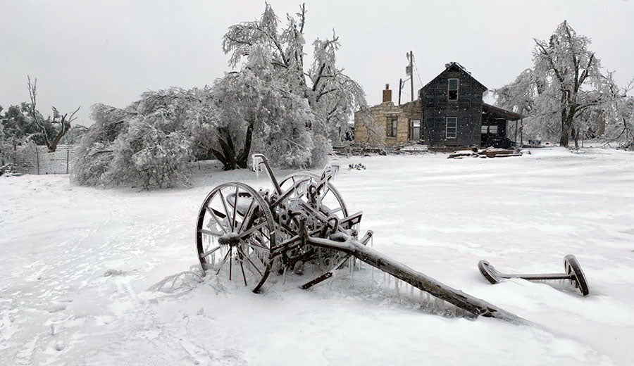 Old House in Snow
