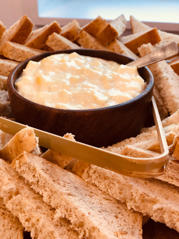 Hot Crabmeat Dip with Toasts