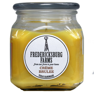 Creme Brulee Candle (20 oz.) - Fredericksburg Farms