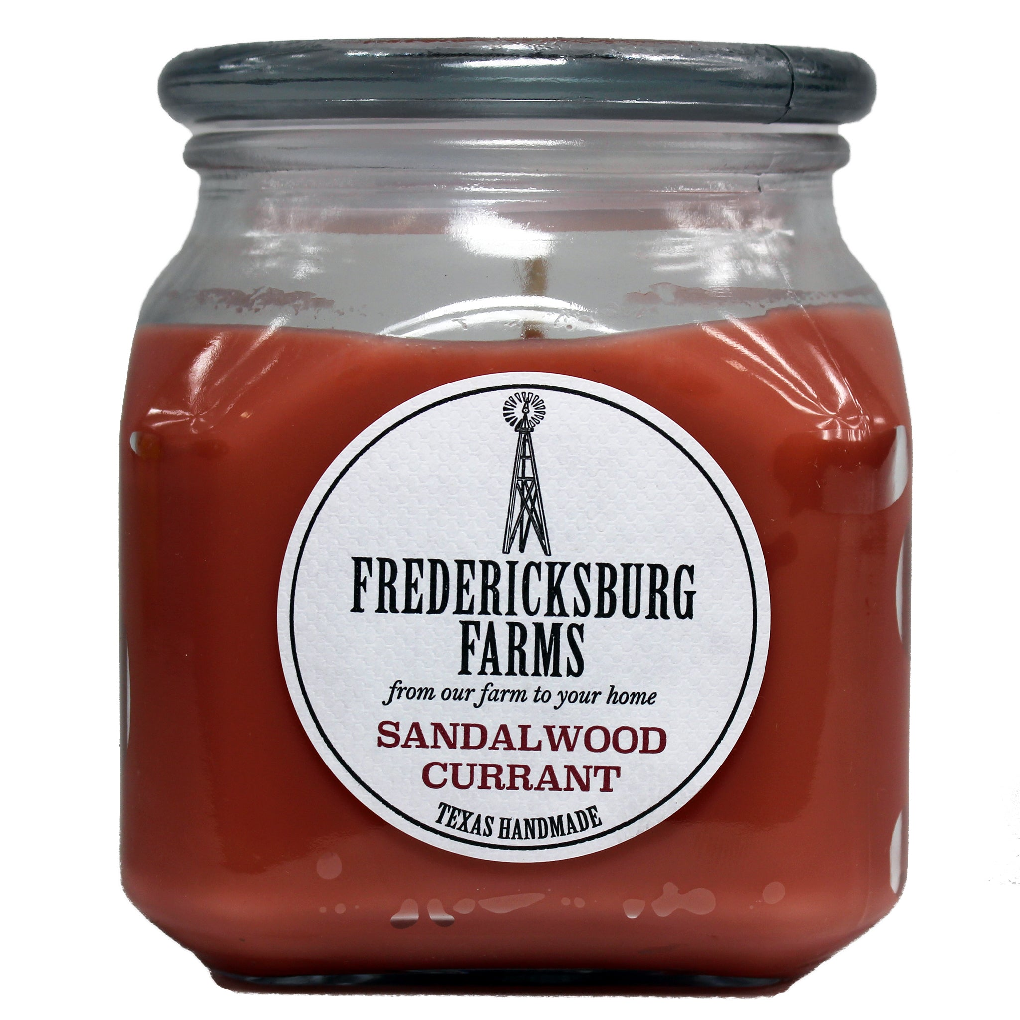 Sandalwood Currant Candle (20 oz.) - Fredericksburg Farms