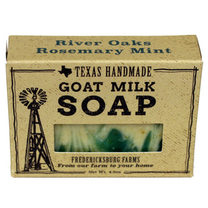 River Oaks Rosemary Mint Goat Milk Soap - Fredericksburg Farms