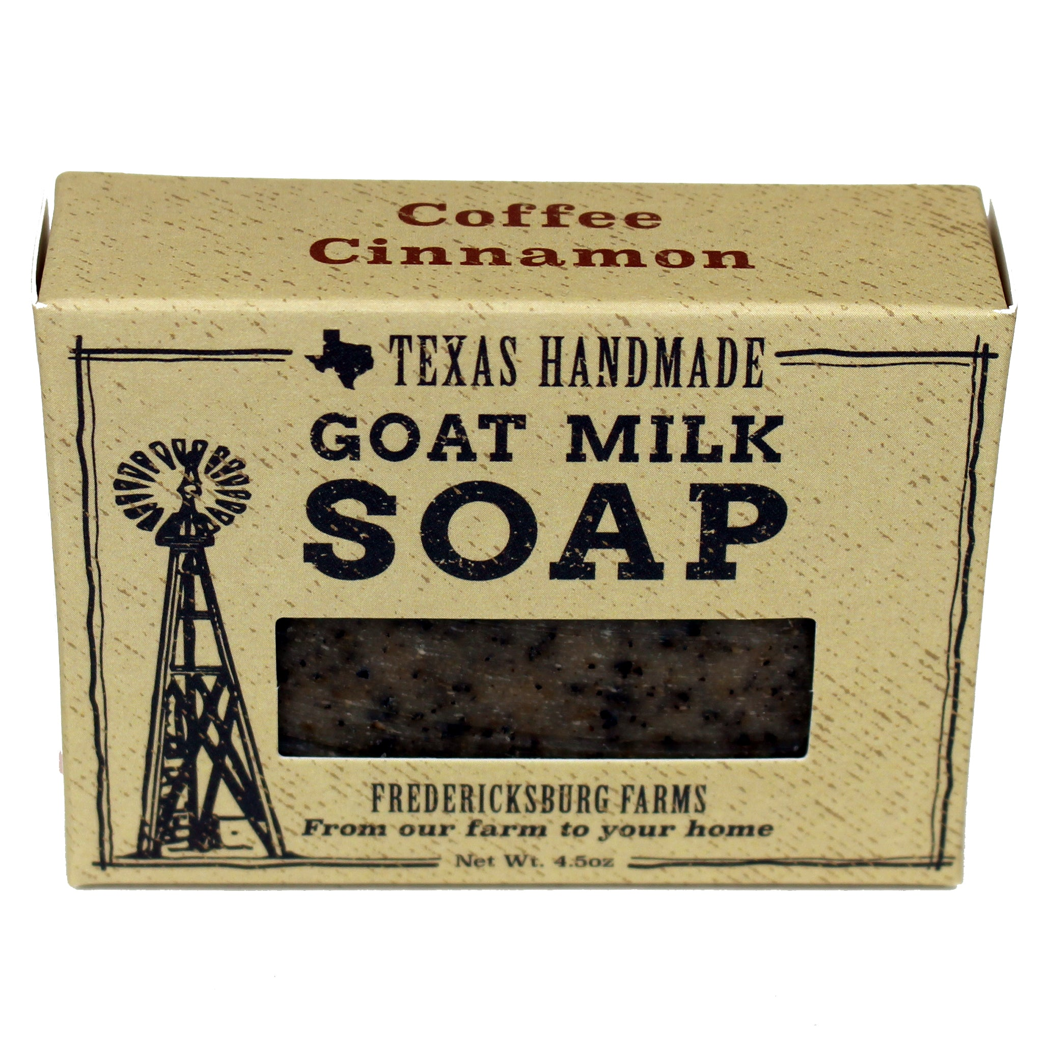 Coffee Cinnamon Goat Milk Soap - Fredericksburg Farms