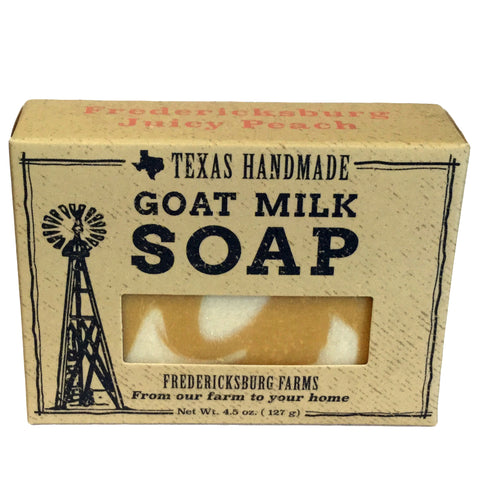 Fredericksburg Juicy Peach Goat Milk Soap - Fredericksburg Farms