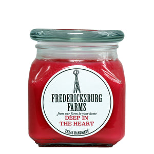 Deep in the Heart Candle (10 oz.) - Seasonal - Fredericksburg Farms