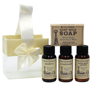 River Oaks Rosemary Mint Travel Size Gift Set - Fredericksburg Farms
