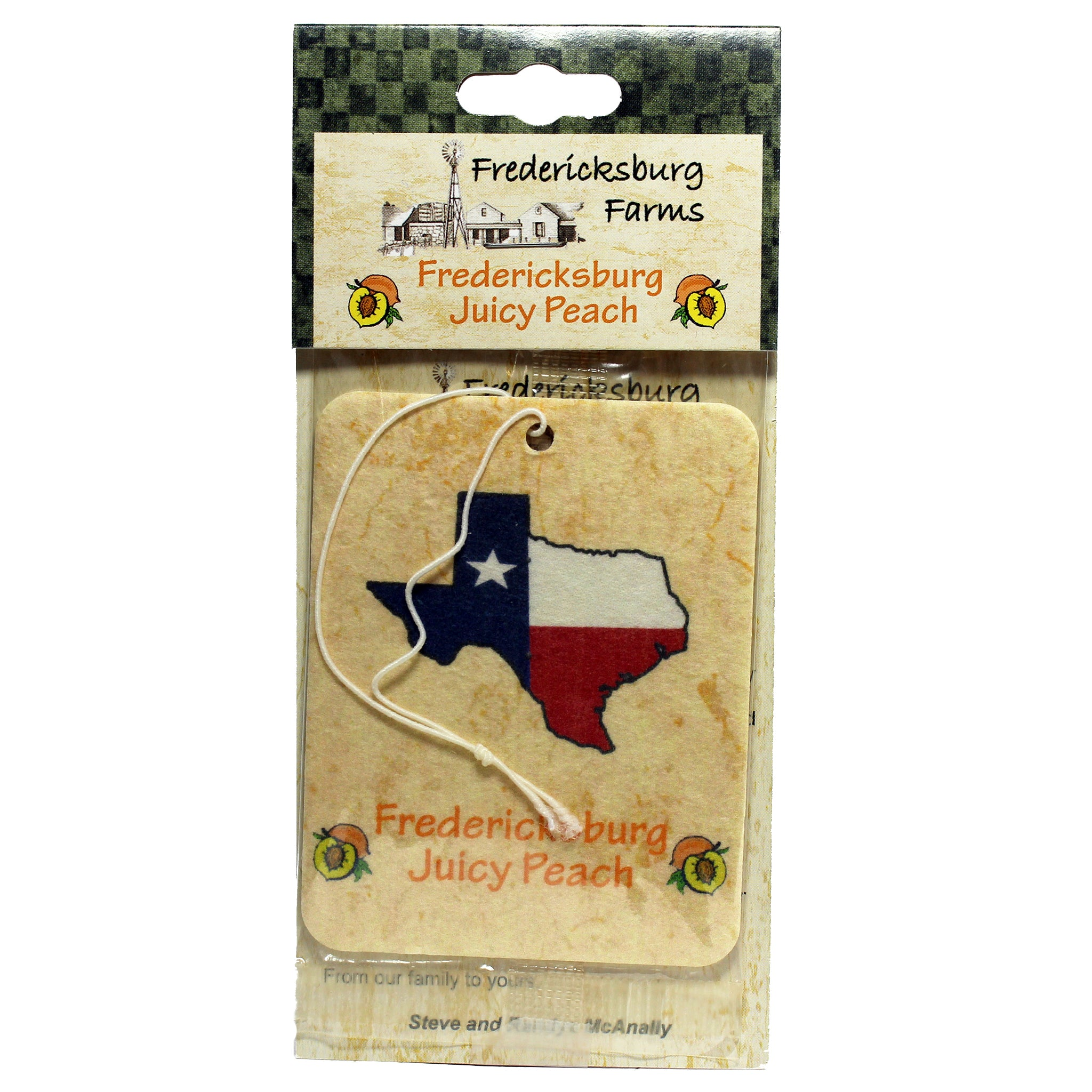 Fredericksburg Juicy Peach Air Freshener - Fredericksburg Farms