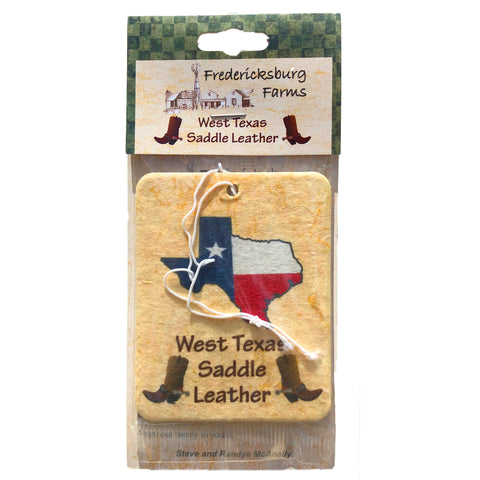 West Texas Saddle Leather Air Freshener - Fredericksburg Farms