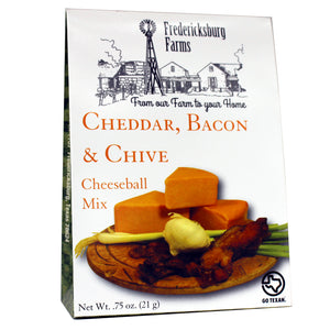 Cheddar, Bacon & Chive Cheeseball Mix - Fredericksburg Farms