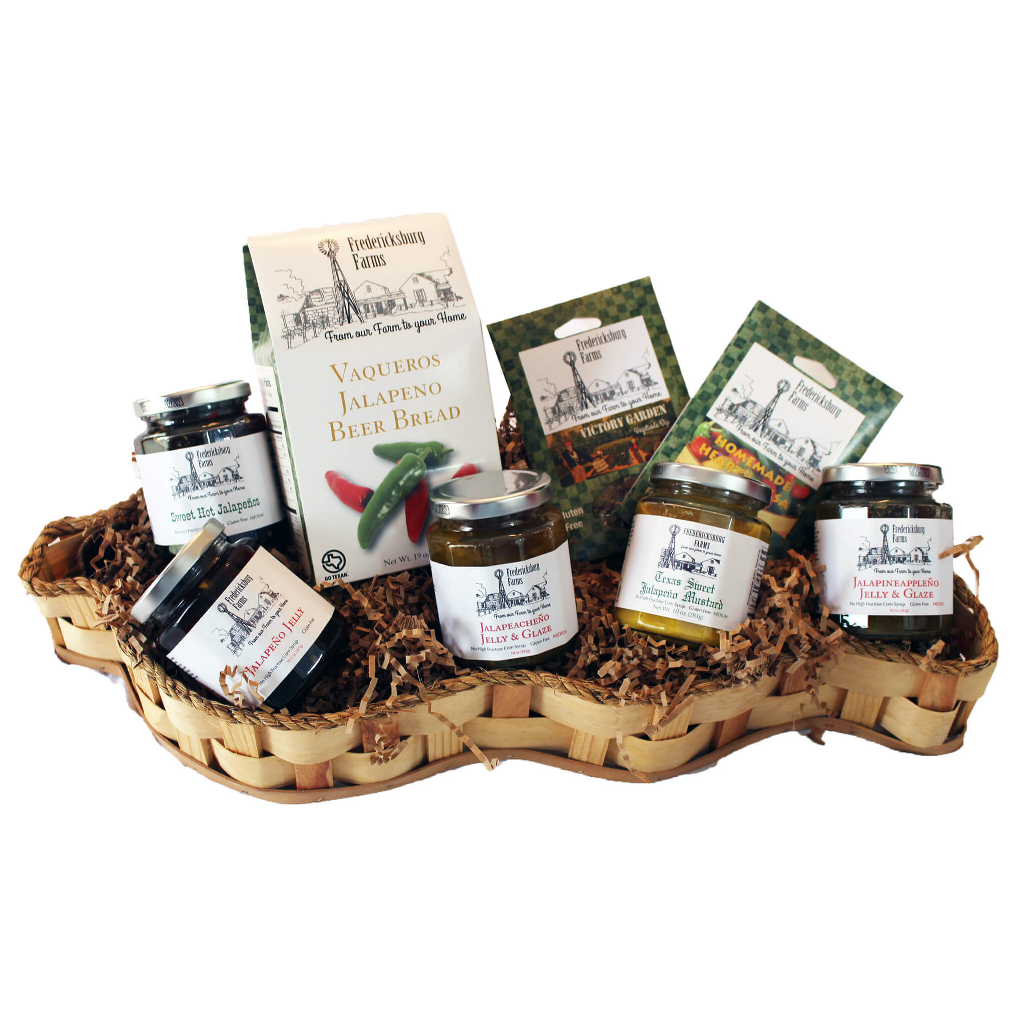 Jalapeno Lovers Basket - Fredericksburg Farms