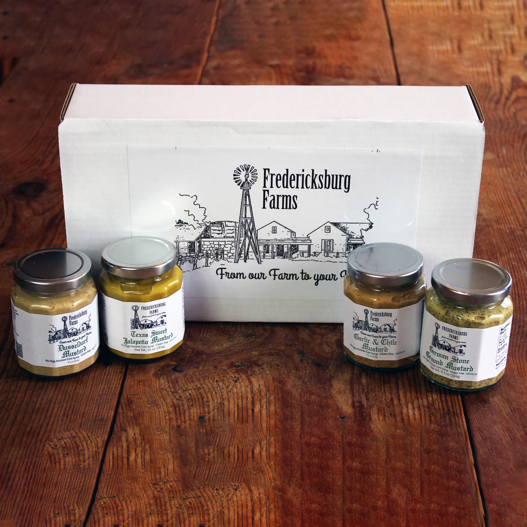 Condiment Sampler Gift Box - Fredericksburg Farms