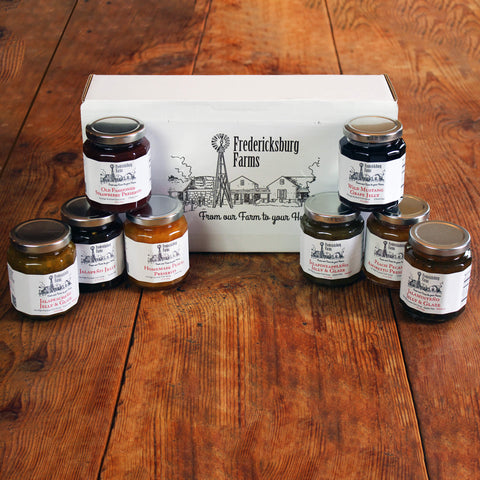Jelly & Preserve Sampler Gift Box - Large - Fredericksburg Farms