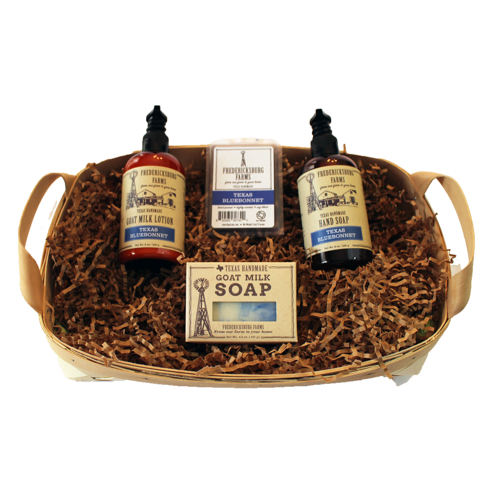 Texas Bluebonnet Gift Basket - Fredericksburg Farms