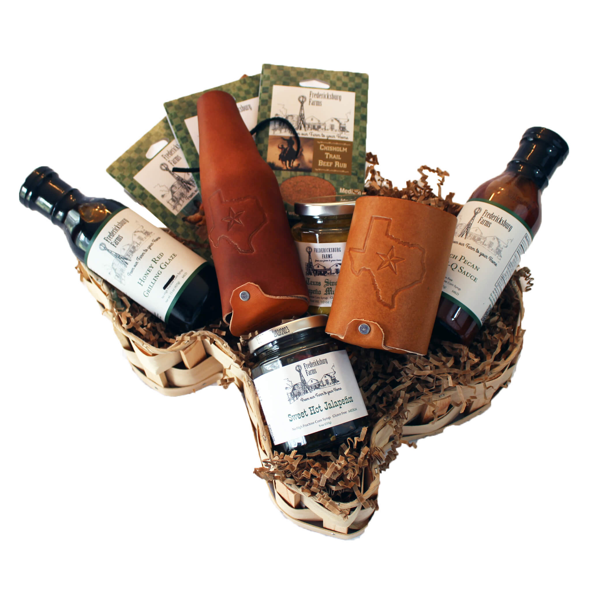 Texas BBQ Starter Set Gift Basket - Large
