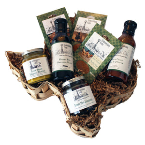 Texas BBQ Starter Set Gift Basket - Small - Fredericksburg Farms