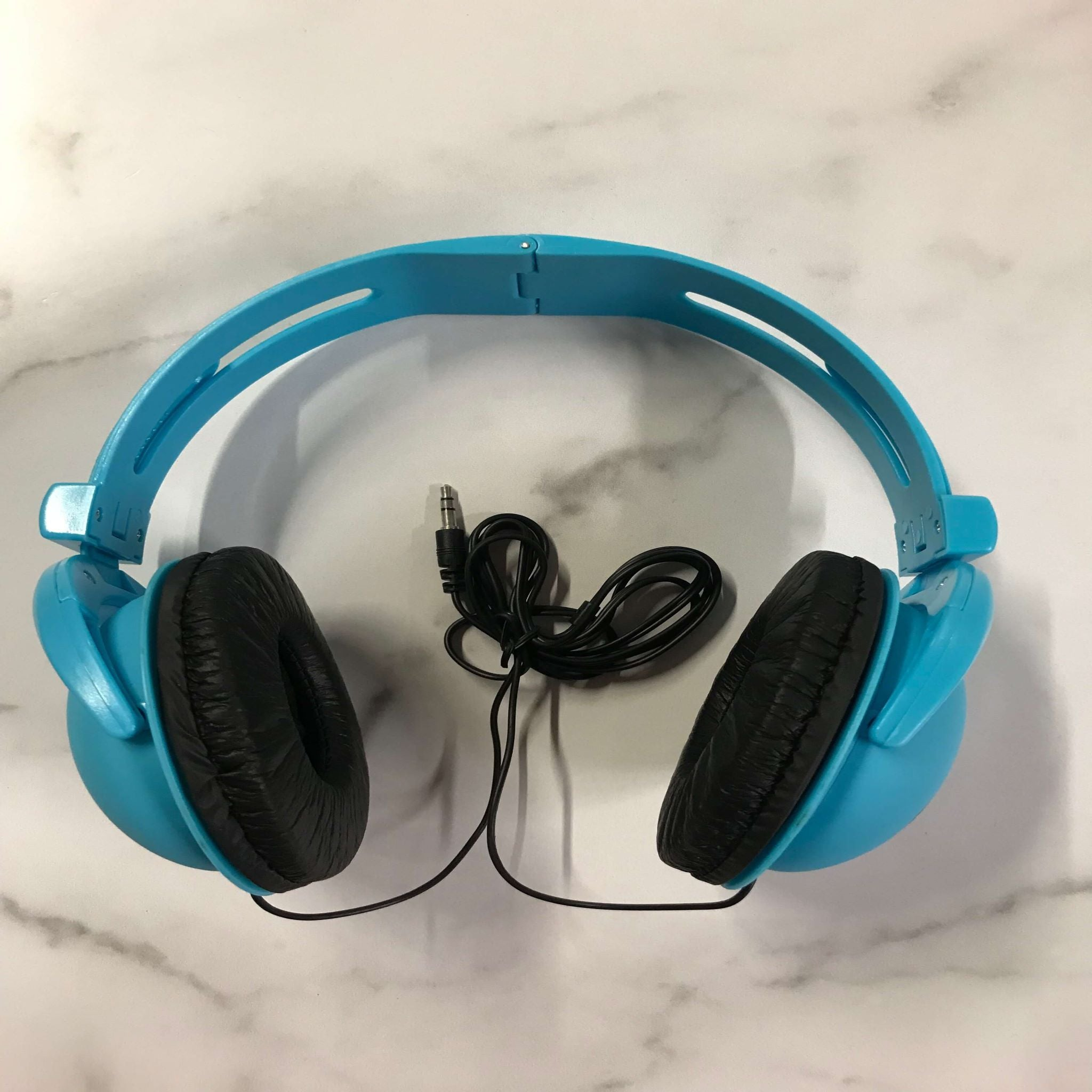 "7.5"" Blue Stereo Headphones - Fredericksburg Farms"