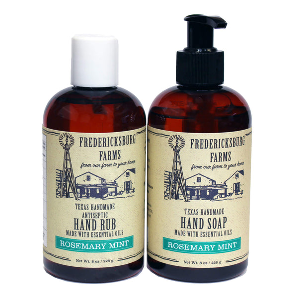 Rosemary Mint Antiseptic Rub & Scrub Combo - Fredericksburg Farms