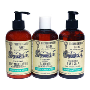 Rosemary Mint Hand Rub/Hand Soap/Lotion Combo - Fredericksburg Farms