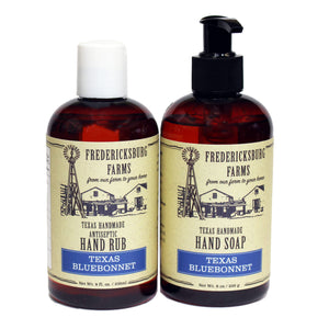 Texas Bluebonnet Antiseptic Rub & Scrub Combo - Fredericksburg Farms