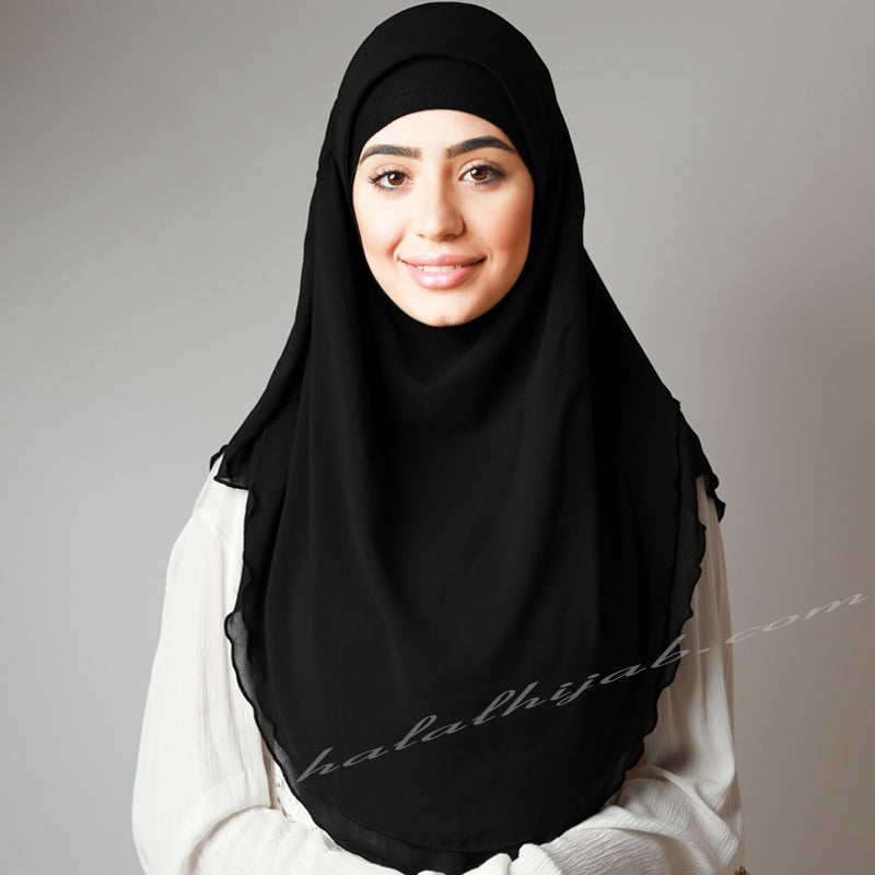 Black Chiffon, Hijab Australia, Hijab Women, Hijab House, Hijab style, Hijab fashion, How to wear Hijab?