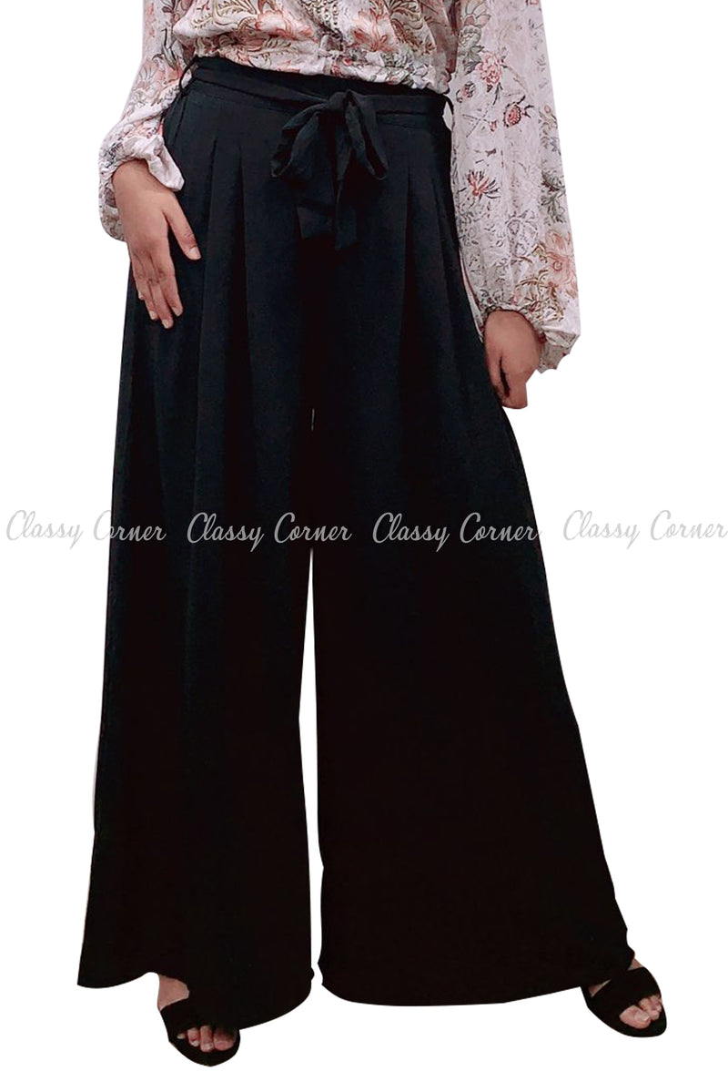 Black Loose Bottom Comfy Summer Pants