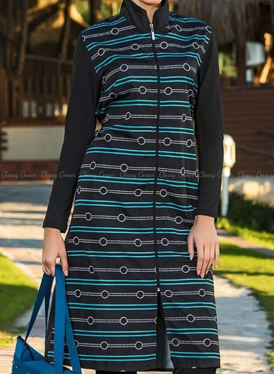 Green Stripe with Stylish Design Top