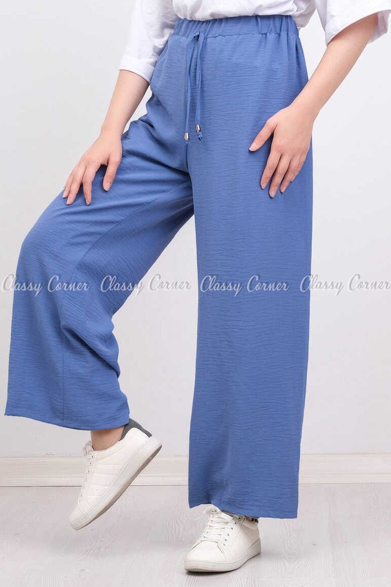Elastic Waist Blue Modest Comfy Pants