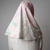 Light Dusty Pink Green Floral Printed Luxurious Instant Hijab