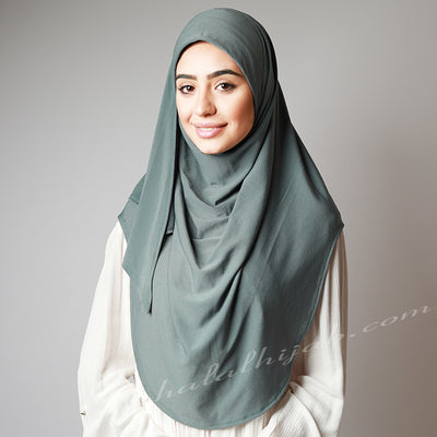 Olive colour stretchy instant Hijab, Hijab online, Hijab Women, Hijab House, Hijab style, Hijab fashion, How to wear Hijab,