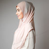 Light Nude Blush Cute Pink Stretchy Instant Hijab