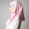 Pretty Pink Floral Border Print Two Piece Instant Hijab