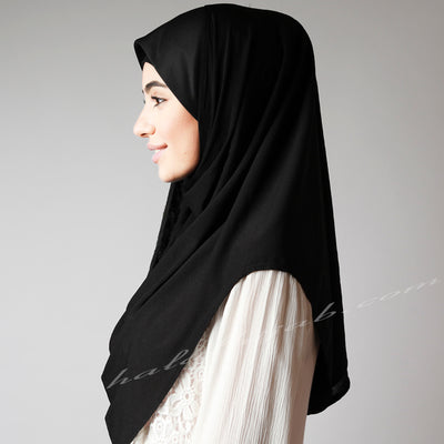 Wear Hijab, What is Hijab? Style Hijab, Online, wear, Hijab shop Australia, Hijab Women, Hijab House, Haute,Black stretchy pin free instant plain Hijab