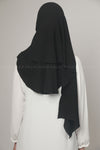 Black Chiffon Georgette Instant Pin-Free Multi Style Hijab