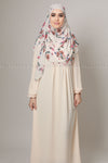 Light Creme Beige Modest Women Dress