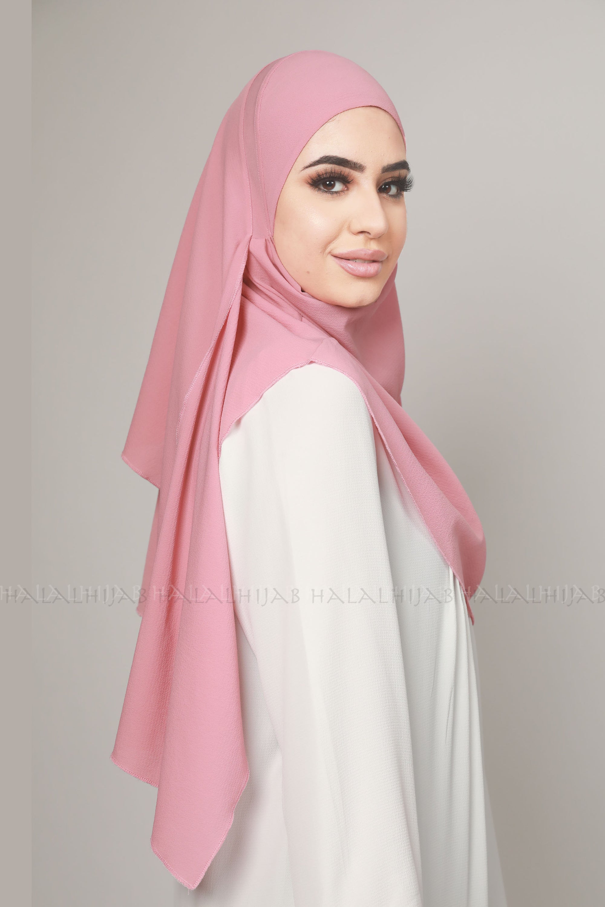 Dusty Pink Georgette Multi Style Instant Hijab
