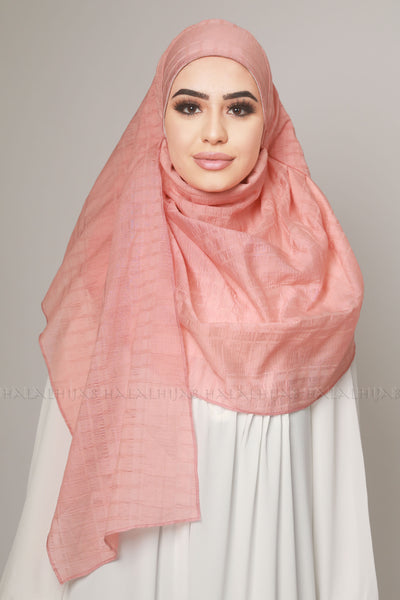 Coral Ineer-Free Pinless Ready-Made Hijab